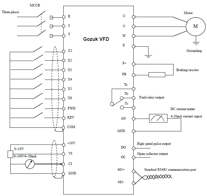 vfd wiring diagram variable frequency drive working principle 110 volt vfd motor wiring diagram at mifinder.co